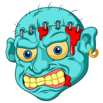 Zombie kopf cartoon