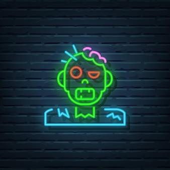 Zombie leuchtreklame vektorelemente