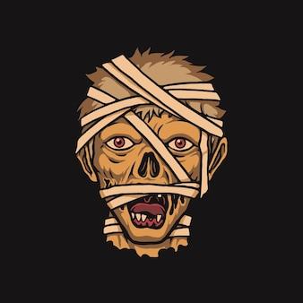 Zombie mumie gesicht