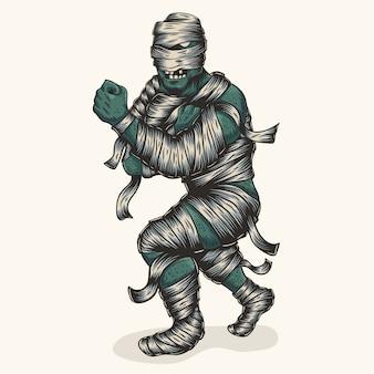 Zombie mumie kämpfer