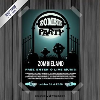 Zombie-party-flyer