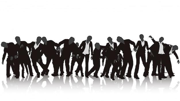 Zombie-silhouette eingestellt