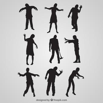 Zombie-silhouette kollektion