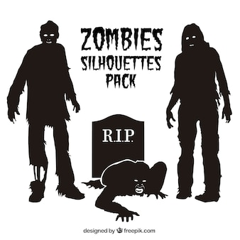 Zombie silhouetten packen