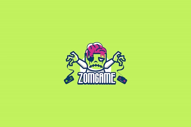 Zombie spiel logo vorlage