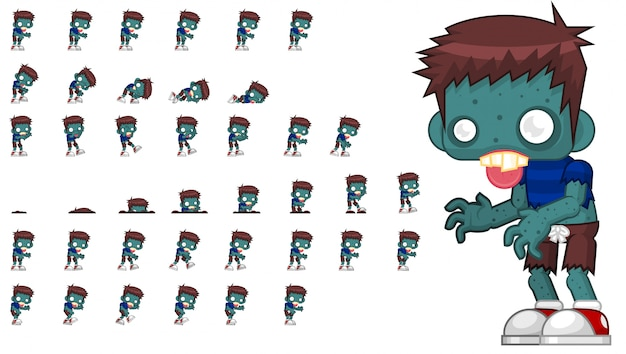 Zombie-spiel sprite