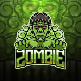 Zombie sport maskottchen logo design
