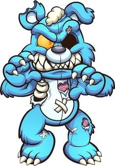 Zombie teddybär gehen illustration