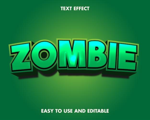 Zombie-texteffekt. bearbeitbarer schrifteffekt.