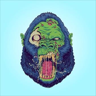 Zombierilla: zombie-gorilla