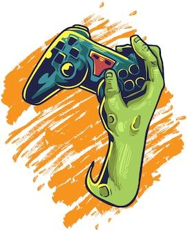 Zombies spielen spiel Premium Vektoren