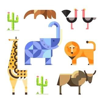 Zoo savanna design illustrationen