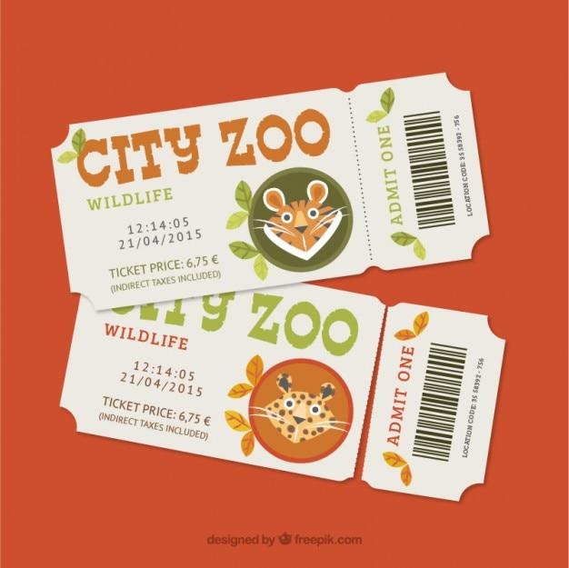 Zoo-tickets mit leopard und tiger