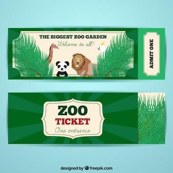 Zoo-tickets mit netten tieren