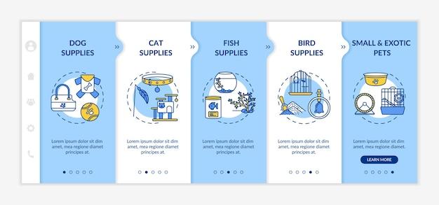 Zoohandlung bietet onboarding-vorlage