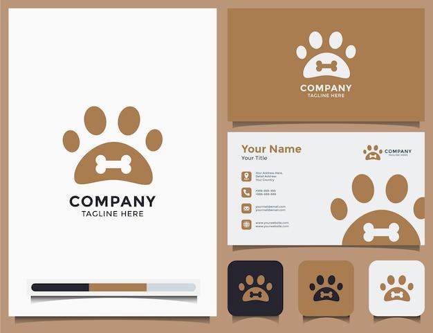 Zoohandlung logo und visitenkarte