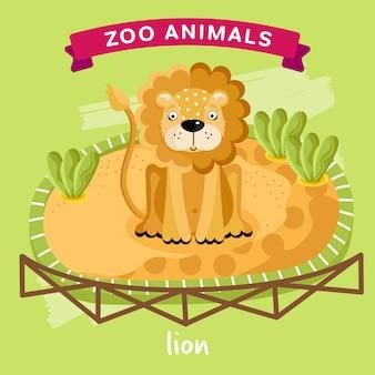 Zootier, löwe