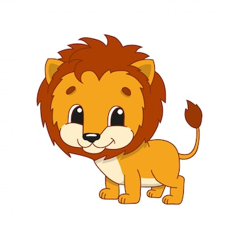 Zotteliger löwe.