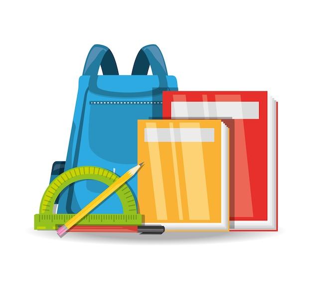 Zubehör schulwerkzeuge, um bildung zu studieren