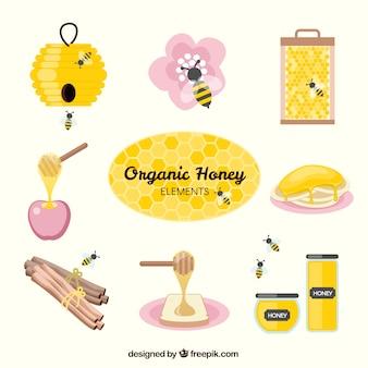 Zubehör von honig und bienen