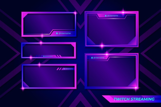 Zuckende stream-panels