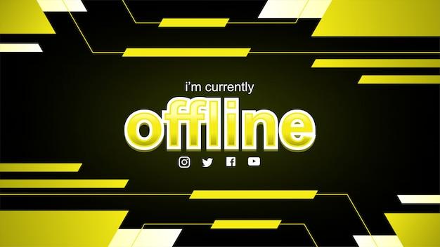 Zuckendes offline-banner