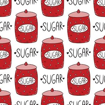Zuckerdose nahtlose muster