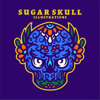 Zuckerschädel illustration