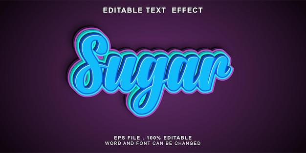 Zuckertext-effekt editierbar