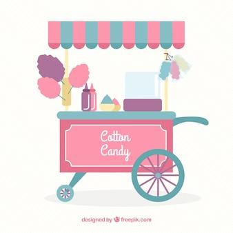 Zuckerwatte kiosk mit markise