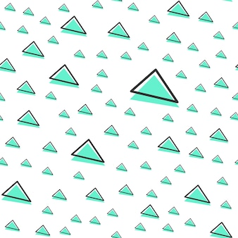 Zufälliges dreiecksmuster, abstrakter geometrischer hintergrund im retro-stil der 80er, 90er jahre. bunte geometrische illustration