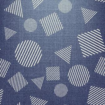Zufälliges geometrisches formmuster auf textil. abstrakter geometrischer hintergrund, vektorillustration. kreatives und luxuriöses bild