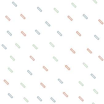 Zufälliges geometrisches linienmuster, abstrakter hintergrund im retro-stil der 80er, 90er jahre. bunte geometrische illustration