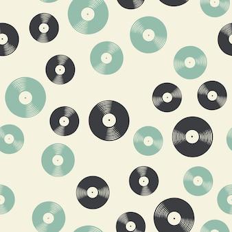 Zufälliges vinyl-schallplattenmuster, musikillustration. kreatives und luxuriöses cover