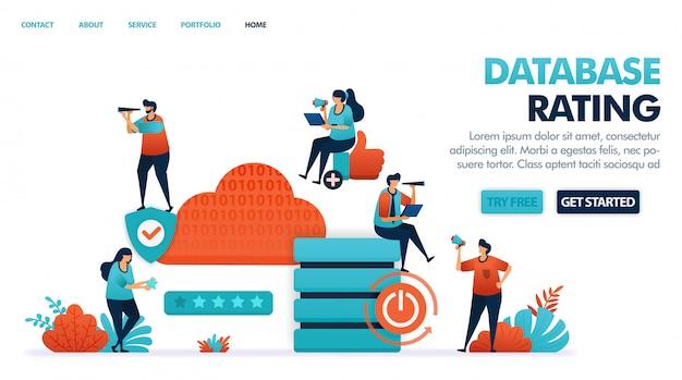 Zufriedenheit bei der vermietung von hosting, cloud, domains und datenbanken.
