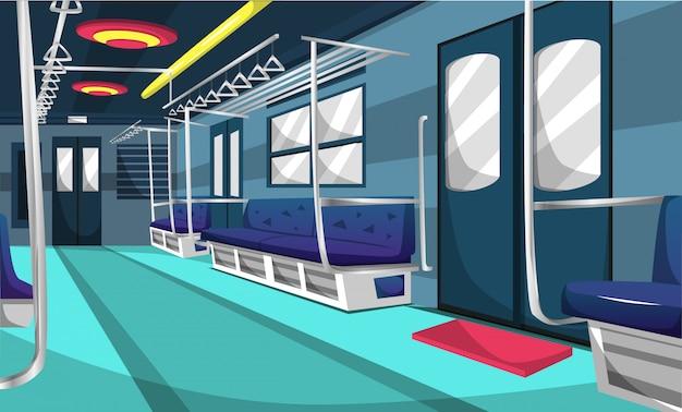 Zug-pendler-linie-eisenbahn-compartmen