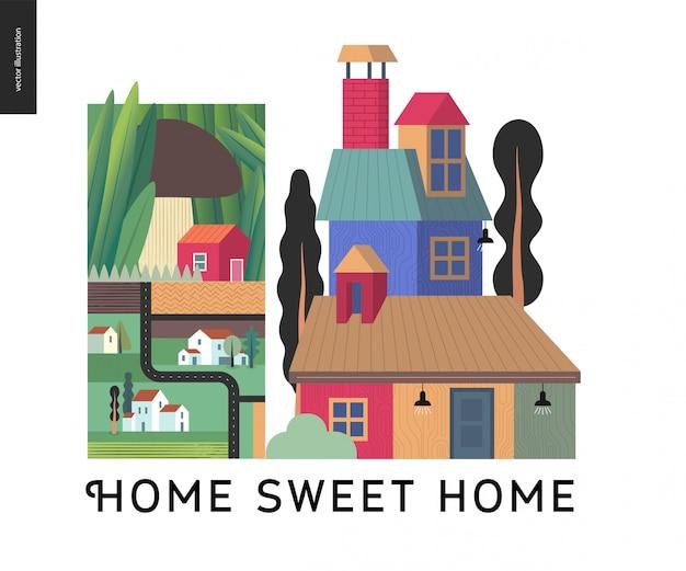 Zuhause süße heimat hintergrund