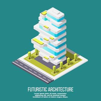 Zukünftige architektur isometrisch
