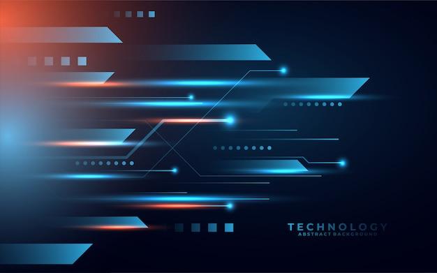 Zukünftiger abstrakter hintergrund der digitalen technologie