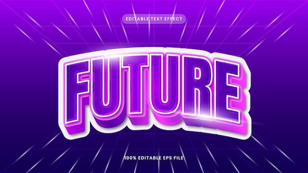 Zukünftiger bearbeitbarer texteffekt