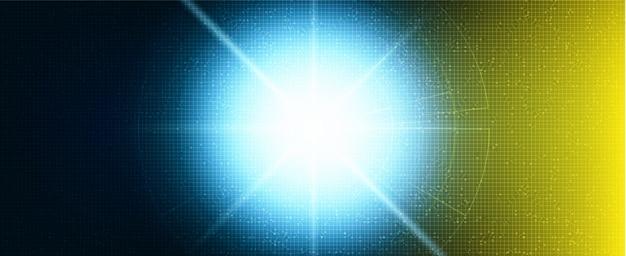 Zukünftiger hellblauer und gelber hintergrund