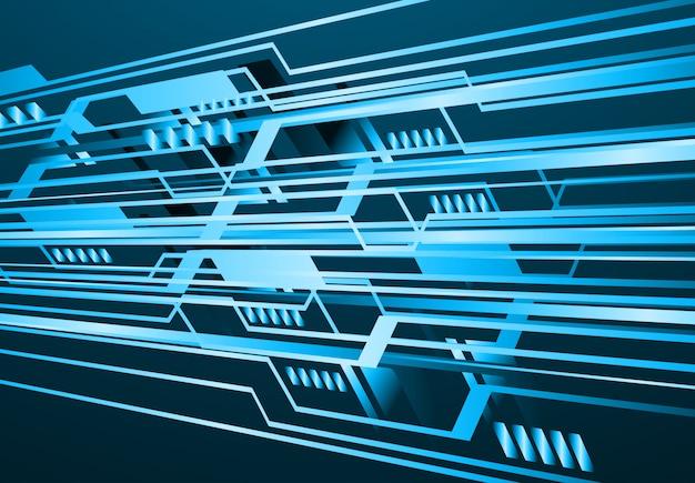 Zukünftiger technologiehintergrund der blauen binären cyber-schaltung