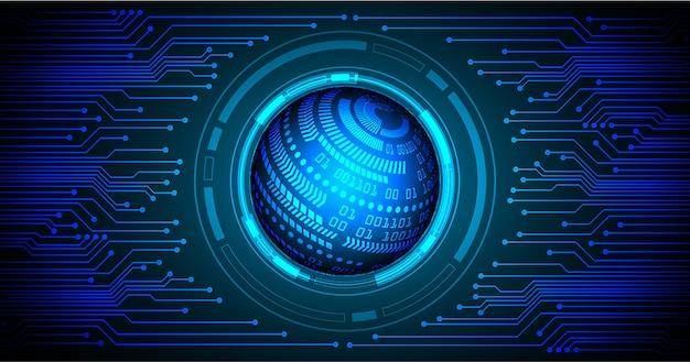 Zukünftiger technologiehintergrund der blauen weltcyber-schaltung