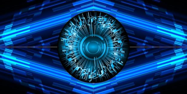 Zukünftiger technologiehintergrund des blauen cyberstromkreises