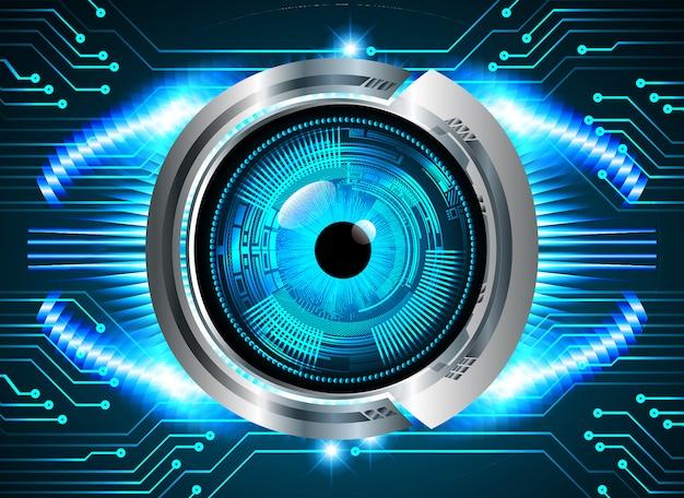 Zukünftiger technologiehintergrund des blueeye-cyber-stromkreises