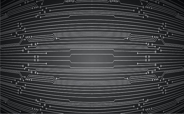 Zukünftiger technologiehintergrund des schwarzen cyberstromkreises