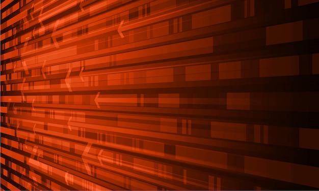 Zukünftiger technologiekonzepthintergrund des orange cyber-stromkreises