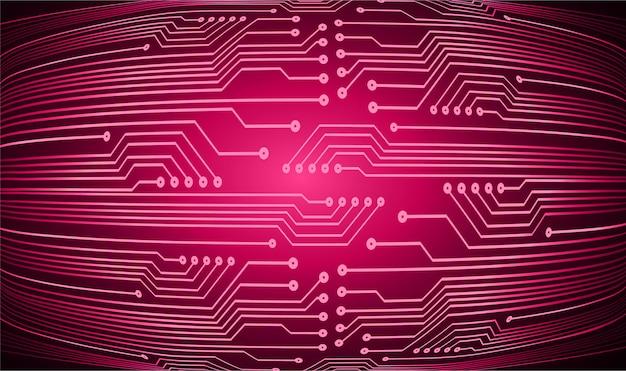 Zukünftiger technologiekonzepthintergrund des rosa cyber-stromkreises