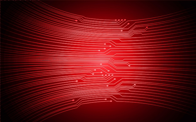 Zukünftiger technologiekonzepthintergrund des roten cyber-stromkreises