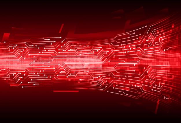 Zukünftiger technologiekonzepthintergrund des roten cyberstromkreises